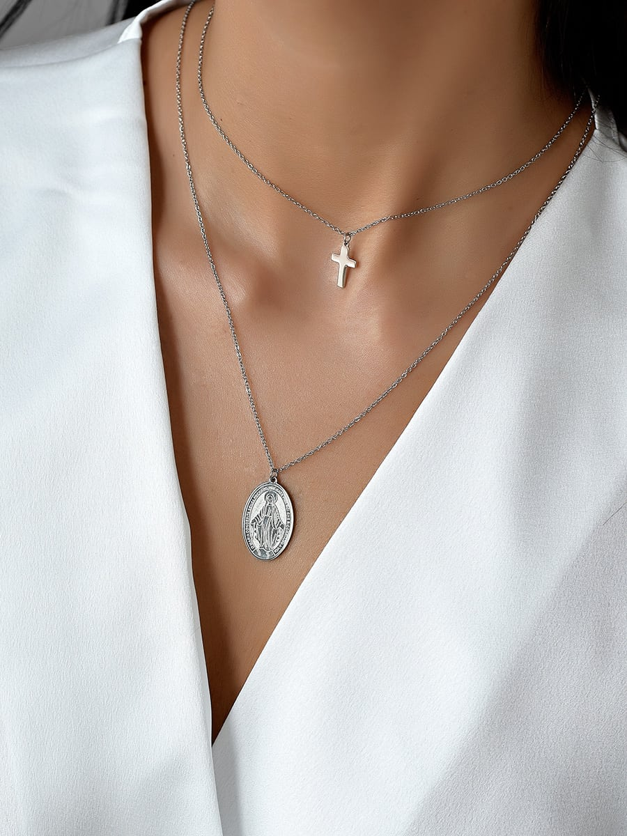 I Belong To You Silver Necklace