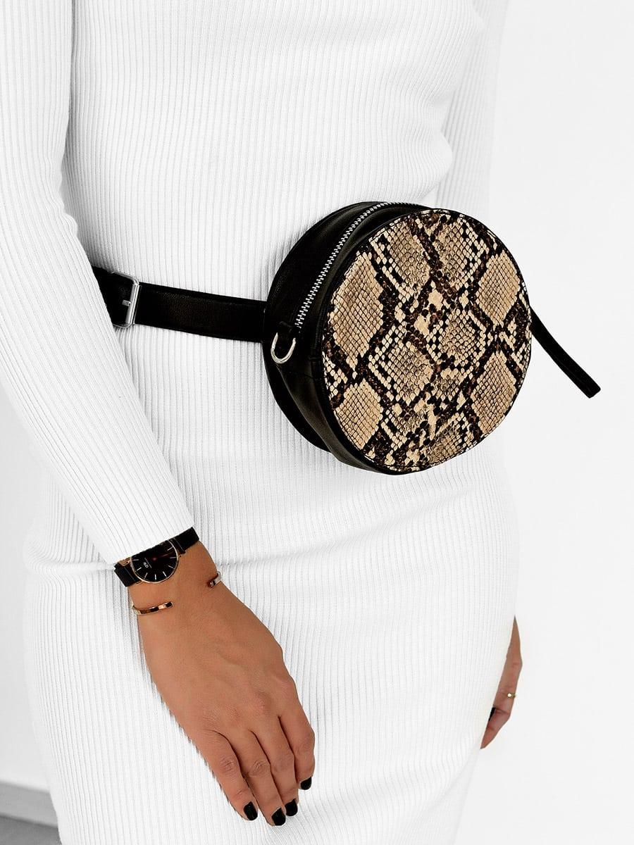 Where To Start Beige Snake Bag