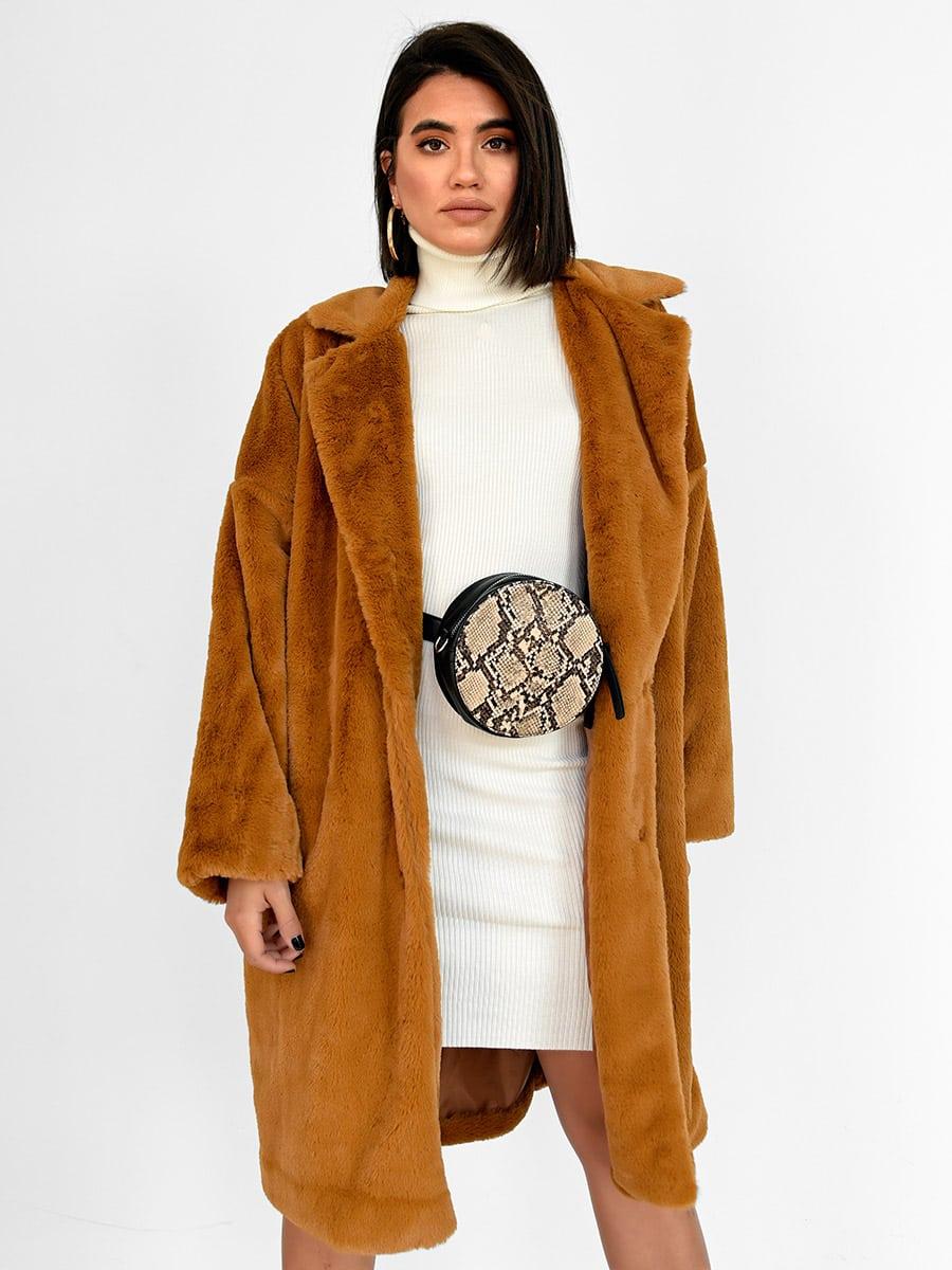 We Mean Business Mustard Fur Coat