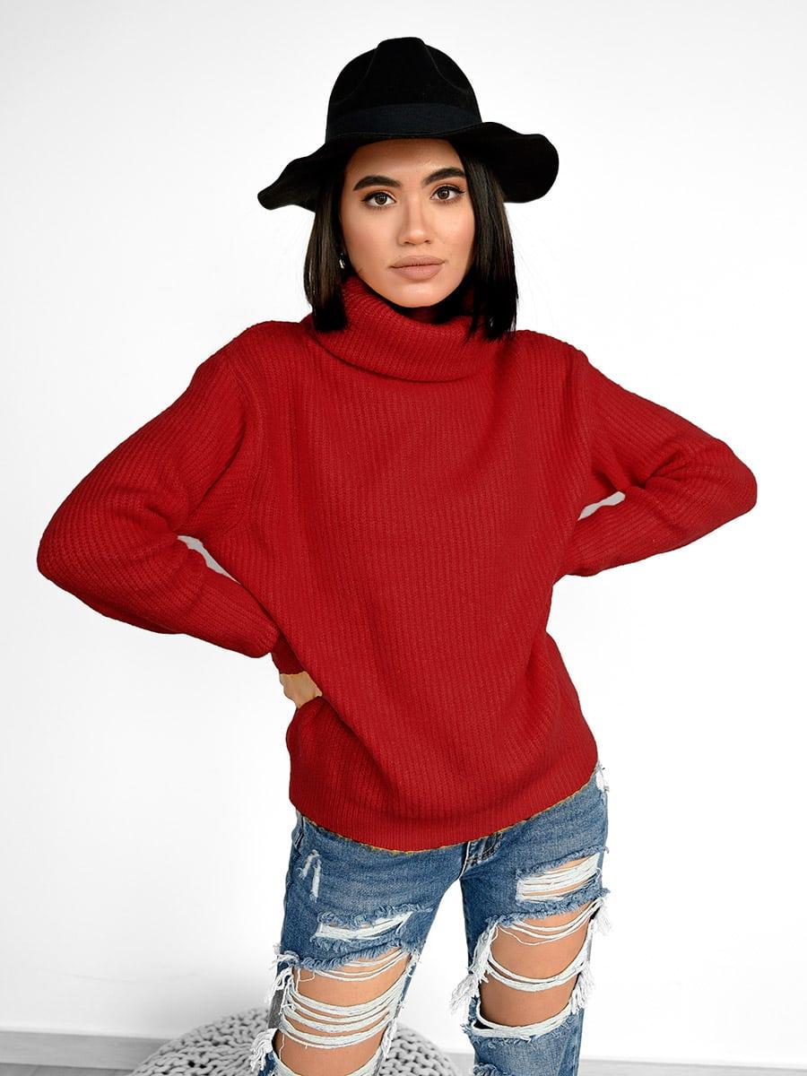 Iriane Red Knitted Sweater