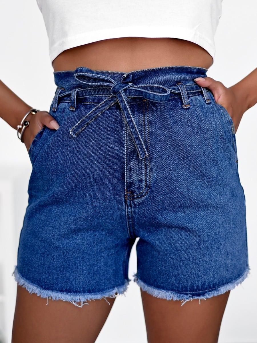 Belt Me Up Denim Shorts
