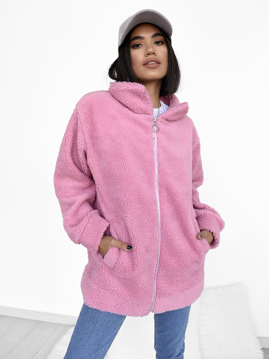 You Drive Me Cozy Pink Oversized Cardigan