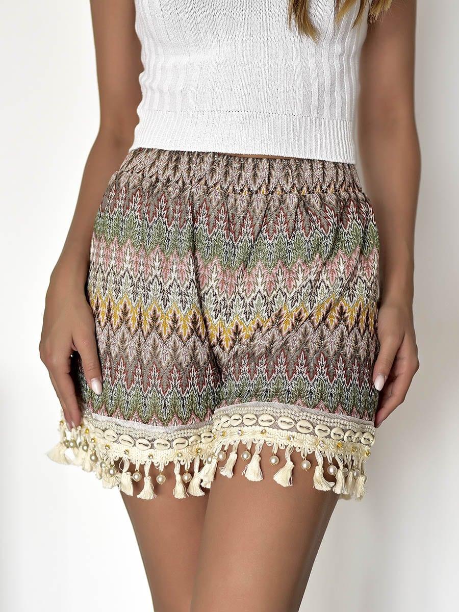 Boho Brown Shorts