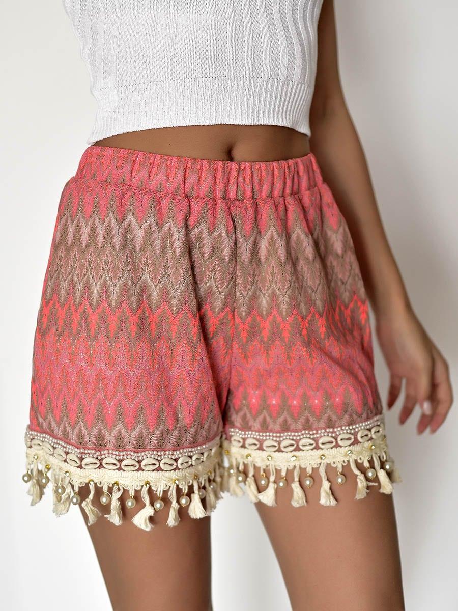 Boho Pink Shorts