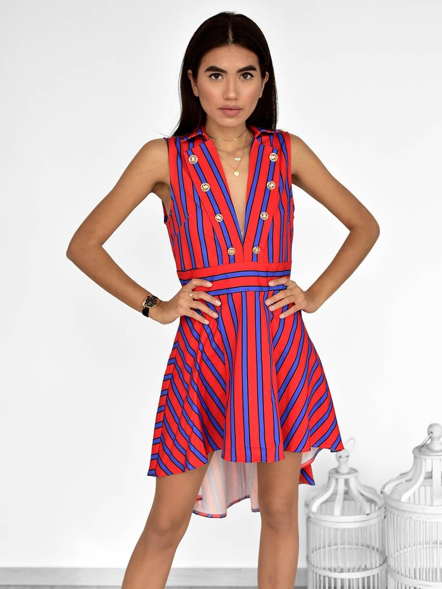 Φόρεμα Ασύμμετρο Δίχρωμο - Ornela