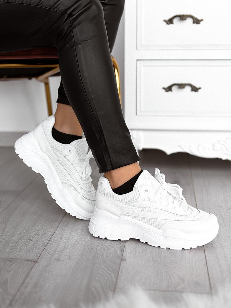 Γυναικεία Sneakers Δίσολα Λευκά - Nymph