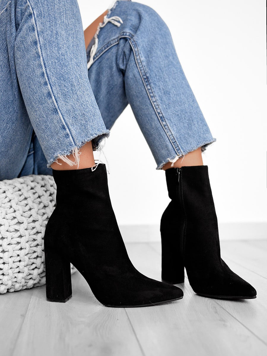 Give It All Black Booties