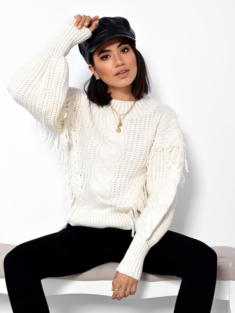 Snow Days White Knitted Sweater