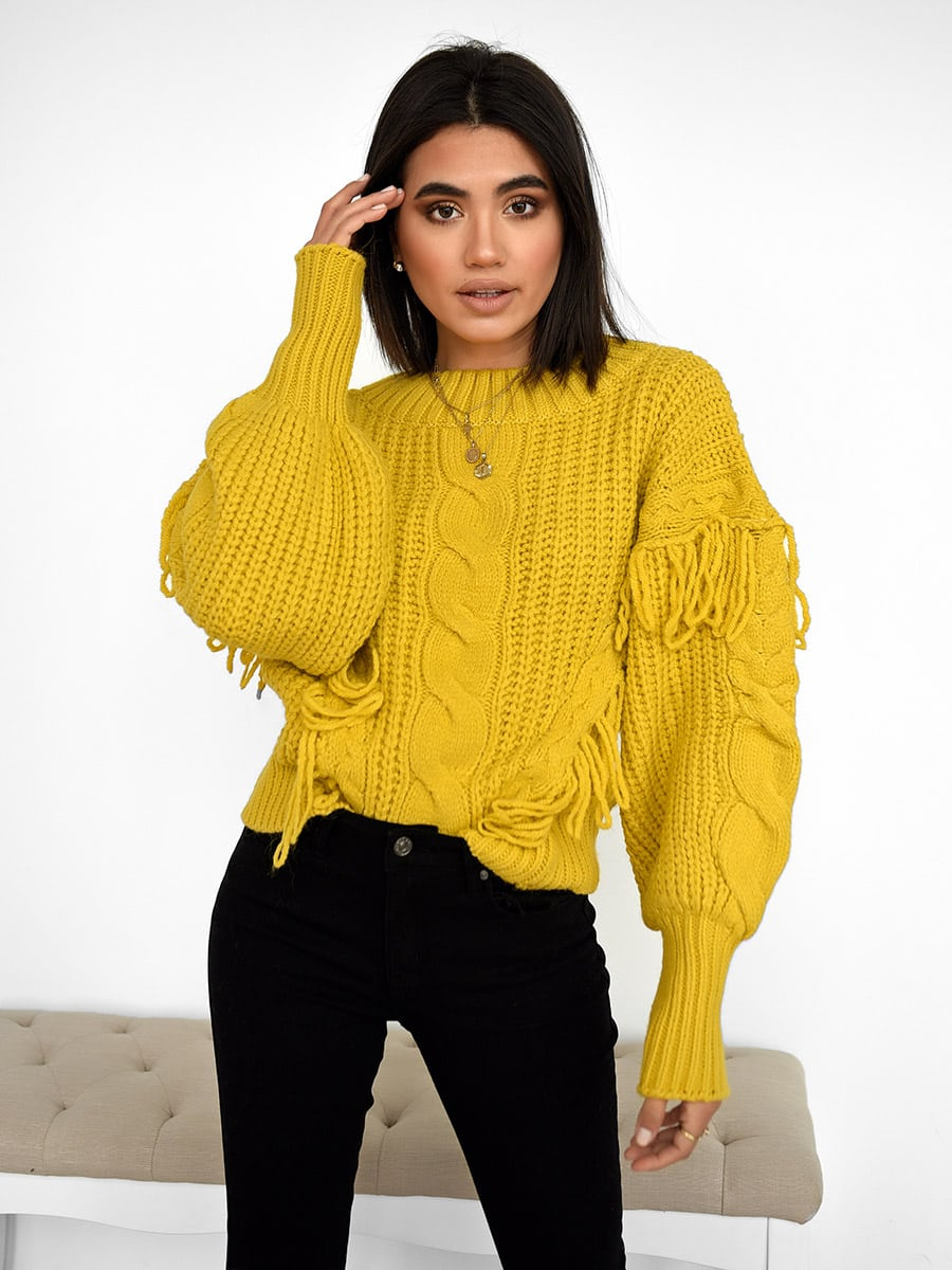 Snow Days Yellow Knitted Sweater