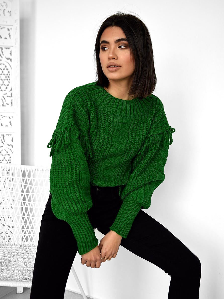 Snow Days Green Knitted Sweater