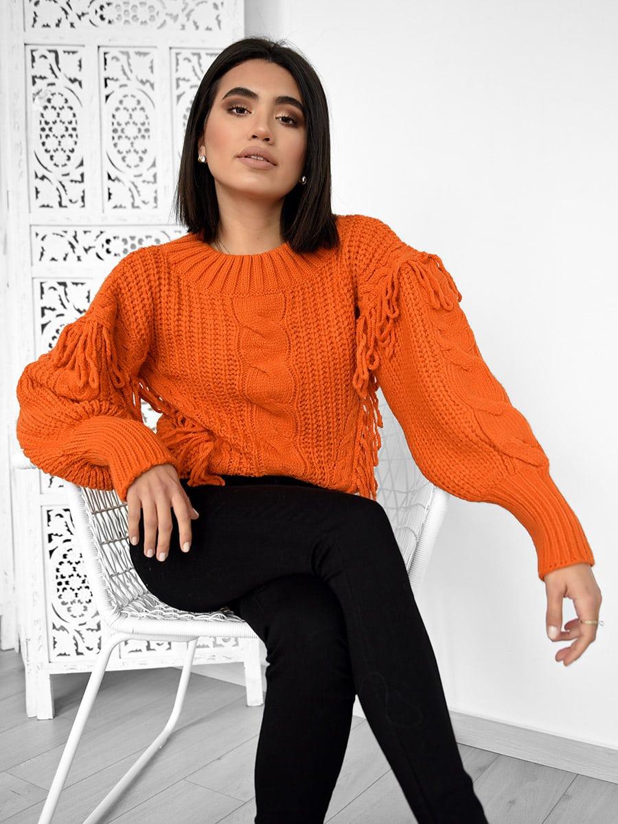 Snow Days Orange Knitted Sweater