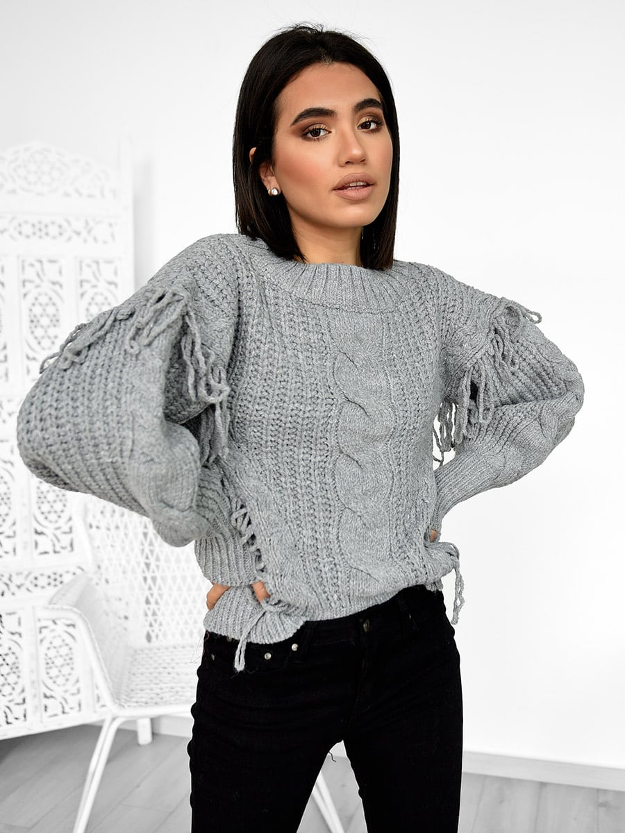 Snow Days Grey Knitted Sweater