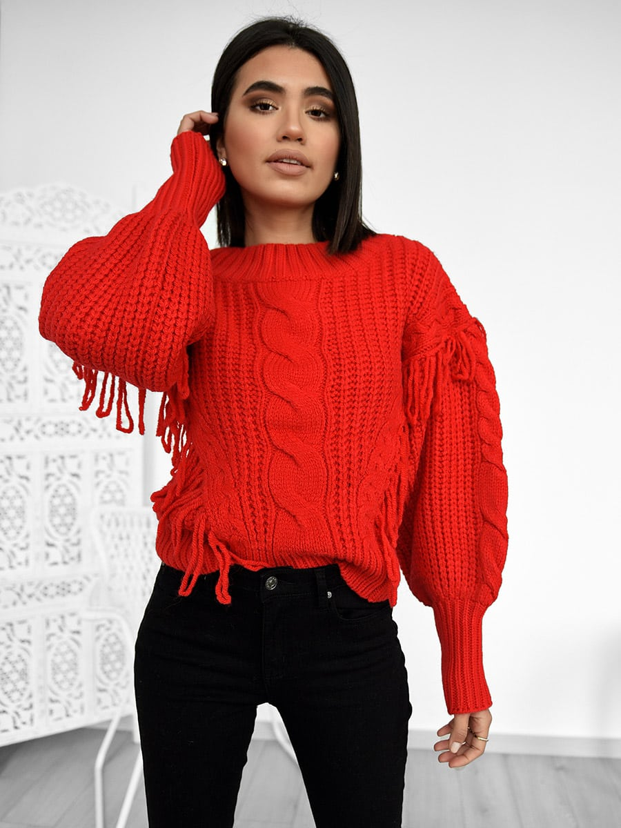 Snow Days Red Knitted Sweater