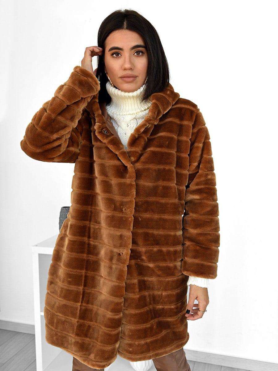 How Does It Feel Brown Fur Coat